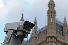 CCTV camera, London UK