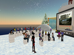 a gathering in Second Life