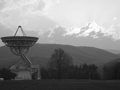 The Greenbank radio telescope