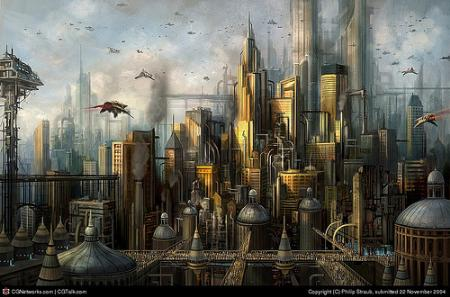 Futuristic City - digital art image by P1X3L