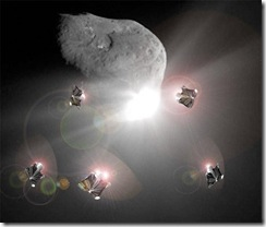 Asteroid deflection with space mirrors
