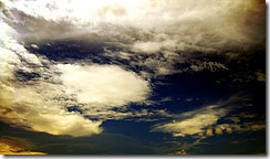 Cloud-strewn sky