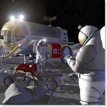Artist's impression of a lunar habitat module