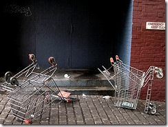 dead shopping trolleys