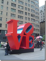 Love statue, New York City