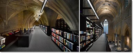 Interior of converted church bookstore, Maastricht