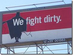 Culture-jammed billboard