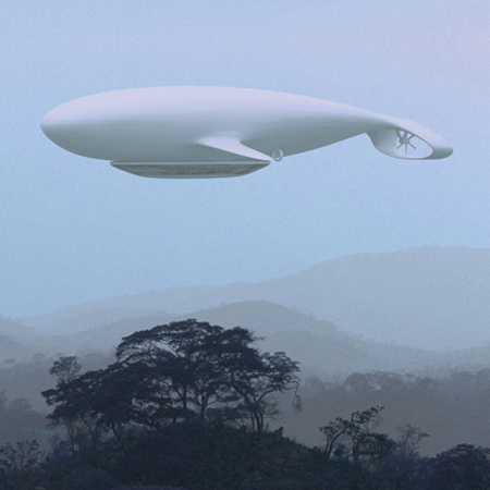 This elegant zepplin could transport you thousands of miles in style