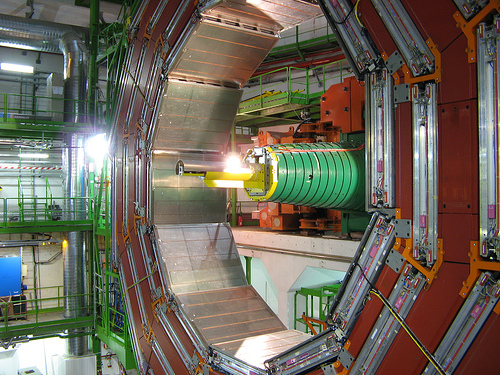 Part of the huge LHC collider