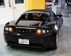 Cars like the Tesla Roadster will be run on electric batteries