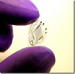 Contact lens with imprinted circuit