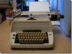 Old-school typewriter