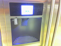 Fridge technology is rapidly becoming more high tech - such as this one with LCD screen and usb port