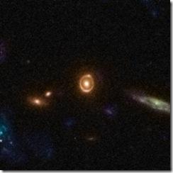 Gravitational-lens-einstein-ring-galaxy