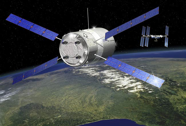 The ATV Jules Verne will be the first unmanned European spacecraft