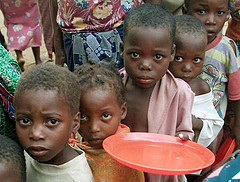 Hungry African kids