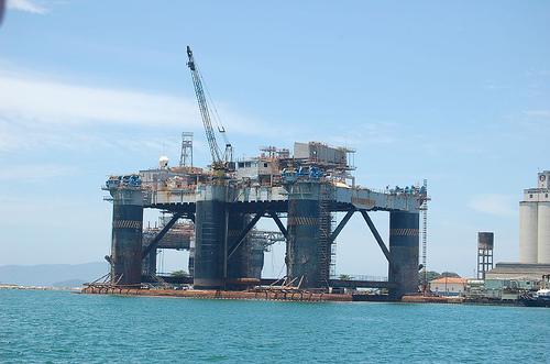 An oil platform in Rio de Janeiro