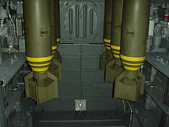 Bombs in an aircraft bomb-bay