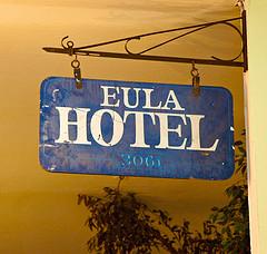 Eula Hotel sign