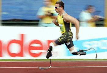 Oscar \'Bladerunner\' Pistorius - amputee athlete