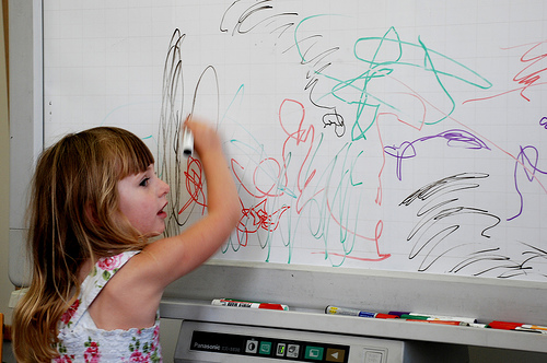 Ella at the whiteboard