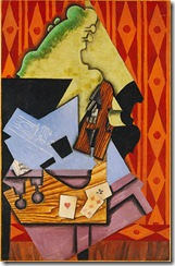 Violin and Playing Cards, Cubist painting by Juan Gris