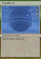Singularity trading card - Friendly AI