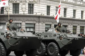 Georgian tank troops