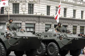 Georgian tank troops