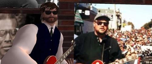 Von Johin, Second Life bluesman