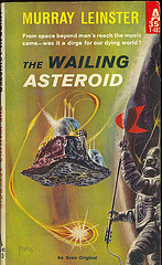 Old book jacket art for The Wailing Asteroid by Murray Leinster