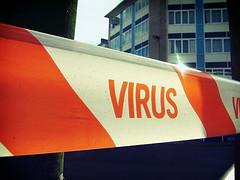 virus hazard tape