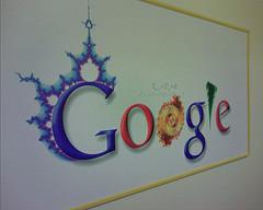 Google logo on a whiteboard