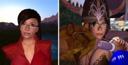 Two different Sarah Palin avatars in Second Life
