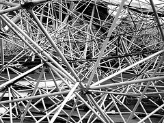 network of metal struts