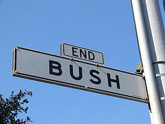 Bush Street sign