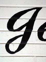 cursive letter j