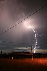 rural lightning strike