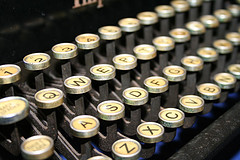 Victorian era typewriter keys