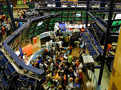 Amsterdam stock exchange trading floor