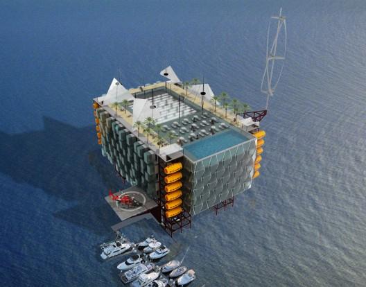 oil-rig hotel conversion concept