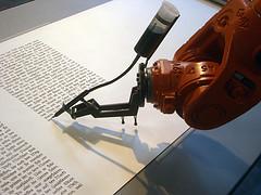 Bios writing robot