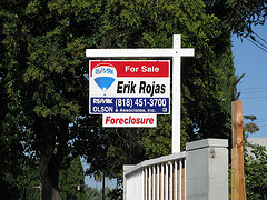 foreclosed property sale sign