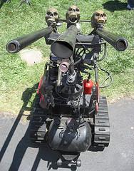 triple-gun robot drone