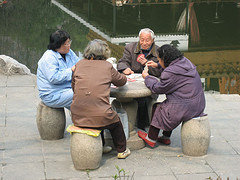 Chinese card players