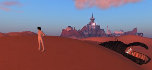Second Life Dune simulation (with sandworm)
