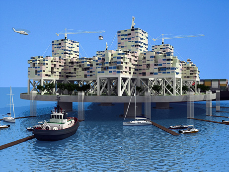 """Rendering Freedom"" seasteading concept"