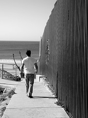 US/Mexico border at Tijuana