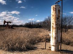 desert oil rig