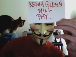 Anonymous vigilantism against Kenny Glenn